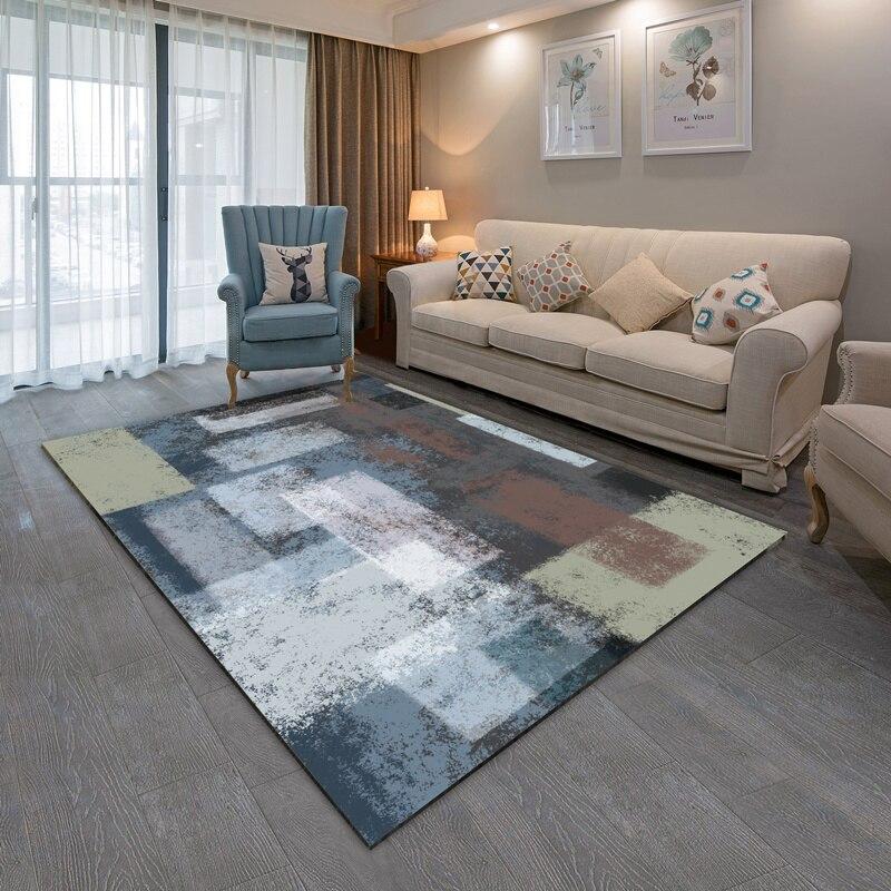 Semplice e moderno astratta inchiostro nordic Americano tappeto del salotto tavolino da letto comodino personalizzato pieno tappeto rettangolare