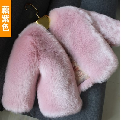 New Fashion Children Baby Kids Girl Faux Fur Coat Outwear Little Girl Long sleeve Fur Coat Jacket Thick Winter Autumn