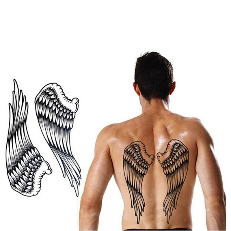 1sheet Big Tattoo Wings Black Dočasné Tattoo Body Art Muži Ženy Zpět Velké Tatoo tatuagem