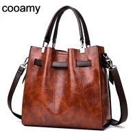 Fashion Women Shoulder Retro Bags Large Casual Leather Tote Messenger Bags Handbag Vintage Zipper Crossbody Bags for Lady