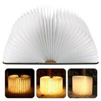 2017 Novelty Wood Turning Night Book Lights USB Rechargeable LED Folding Lamp Creative Fashion Gift Table