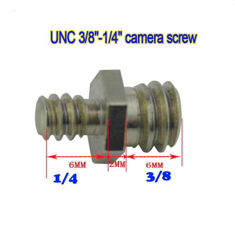 10pcs 1/4 Male Threaded To 3/8 Tripod Screw Convert Adapter Kit Camera Accessory for Tripod Photo Studio Accessories