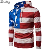 New Winter Mens Hoodie American Flag Printed Hoodies Men Skate Fleece Long Sleeve Men S Sweatshirt