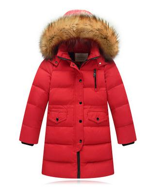 2016 Girls Cold Winter Duck Down Jacket Girl Boy Warm Fur Down Coat Children Casual Hooded Outerwear & Coats For Russia Winter jacket girl casual children parka winter coat duck long section down thick fur hooded kids winter jacket for girls outerwear