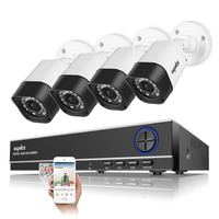 SANNCE 4CH 720P DVR Surveillance System 4 HD 1 0 MP Outdoor CCTV Security Cameras With