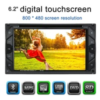 2 Din Car DVD Player 6 2 Universal HD Car Stereo DVD Player Bluetooth Radio Entertainment