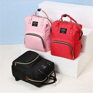 Image 3 - 다기능 엄마 엄마 기저귀 가방 패션 패치 워크 대용량 아기 가방 여행 배낭 엄마 디자이너를위한 간호 가방
