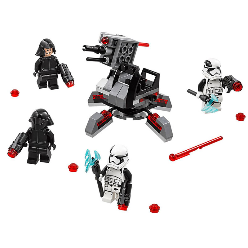 Bela 10895 Star Wars Series First Order Specialists Battle Pack Building Block 132pcs Bricks Toys Compatible With Legoings 75197 dark wash long denim coat jacket with hooded