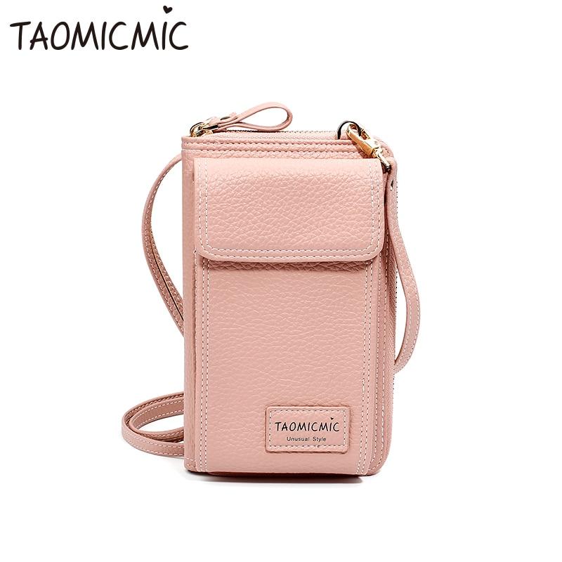 fashion ladies clutch bag cute long mini slung shoulder bag for iPhone Xs X Samsung S9 Huawei mobile phone bag Women's bag