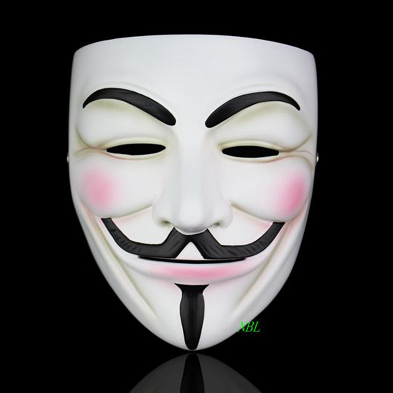 Image 4 - Halloween Masquerade Anonymous Guy Fawkes Fancy V Masks V for Vendetta Resin Mask Dress Adult Costume Cosplay Party Props-in Party Masks from Home & Garden