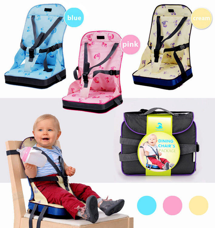 portable high chair booster shabby chic covers baby toddler travel dining feeding foldable seat 3 colors