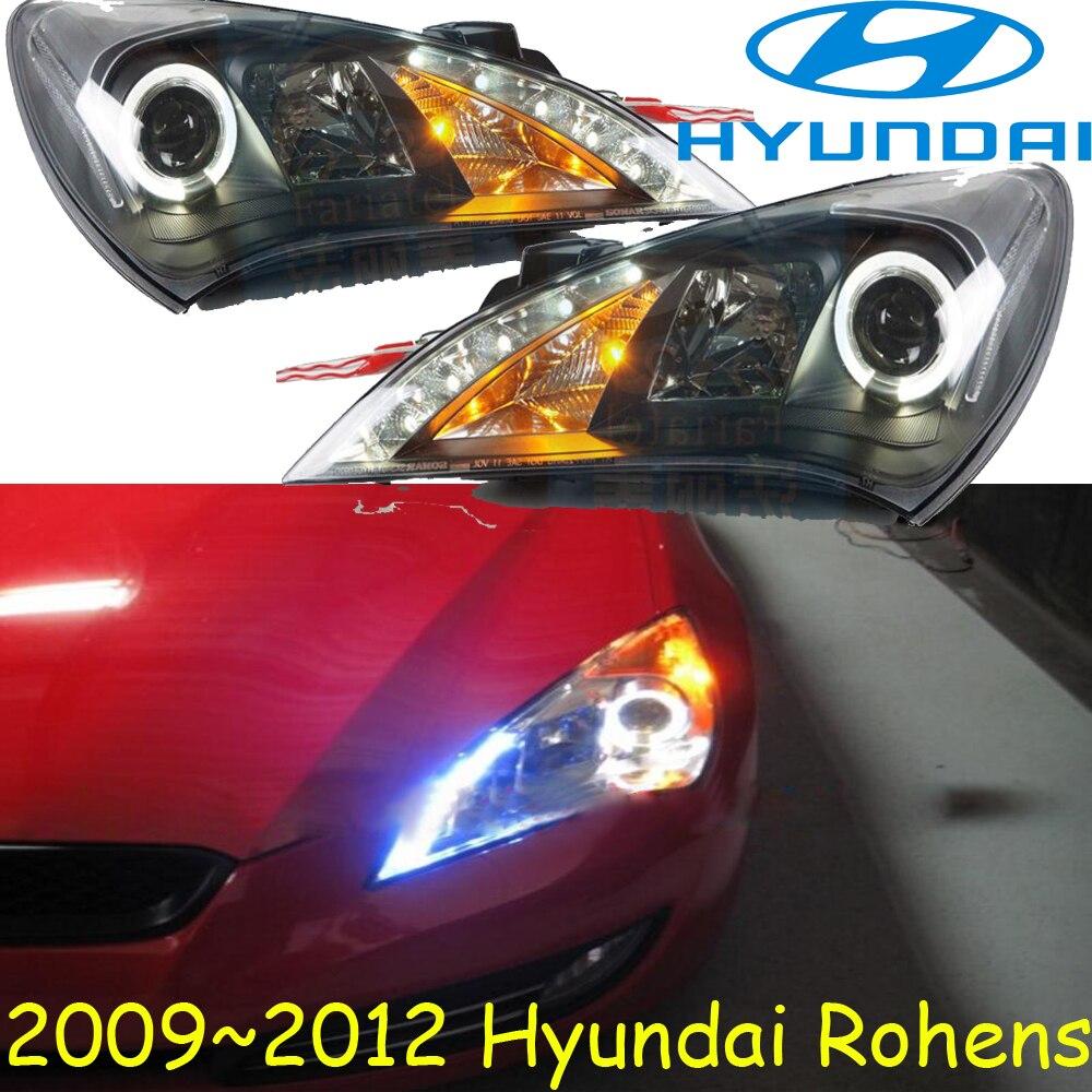 HID, 2009 ~ 2012, style de voiture, phare Rohens, Solaris, accent, Elantra, Genesis, i10, i20, santa fe, tucson, lantra; lampe frontale Rohens