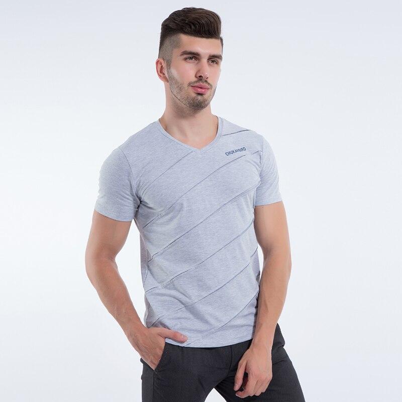 Liseaven Mens Tops & Tees V ყდის პერანგი - კაცის ტანსაცმელი - ფოტო 4
