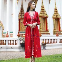 Модное вышитое платье с рукавом три четверти традиционная индийская