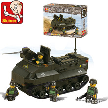 Sluban Model building kits compatible with lego city Panzerfahre Military 947 3D blocks Educational toys hobbies for children