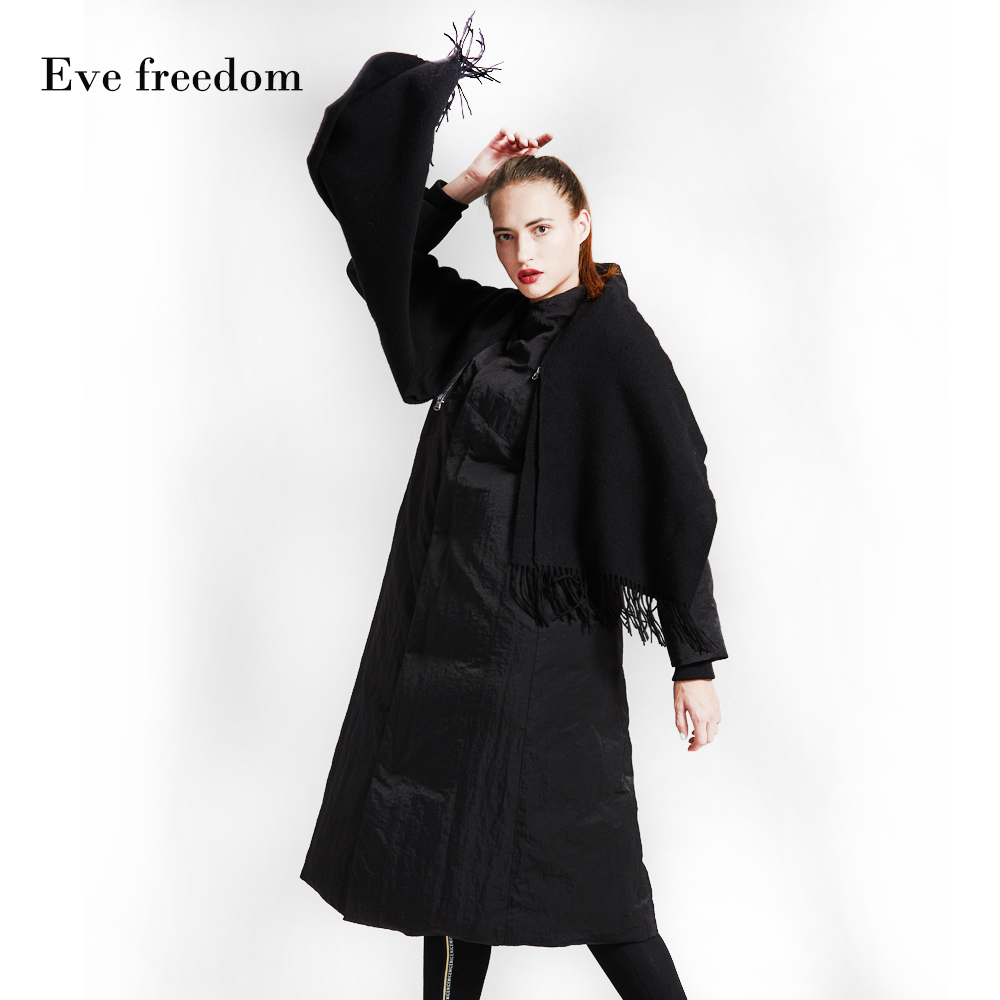 Winter British style good quality 95% real duck   down     coat   female over the knee super longer thicker warm   down     coat   wq402 fit -20