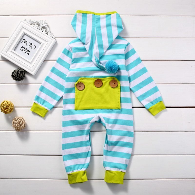 Stripe Baby Rompers Long Sleeve Baby Boy Clothing Children Rompers Autumn Cotton Infant Clothing Newborn Baby Girl Clothes 0-18M baby rompers long sleeve baby boy girl clothing jumpsuits children autumn clothing set newborn baby clothes cotton baby rompers