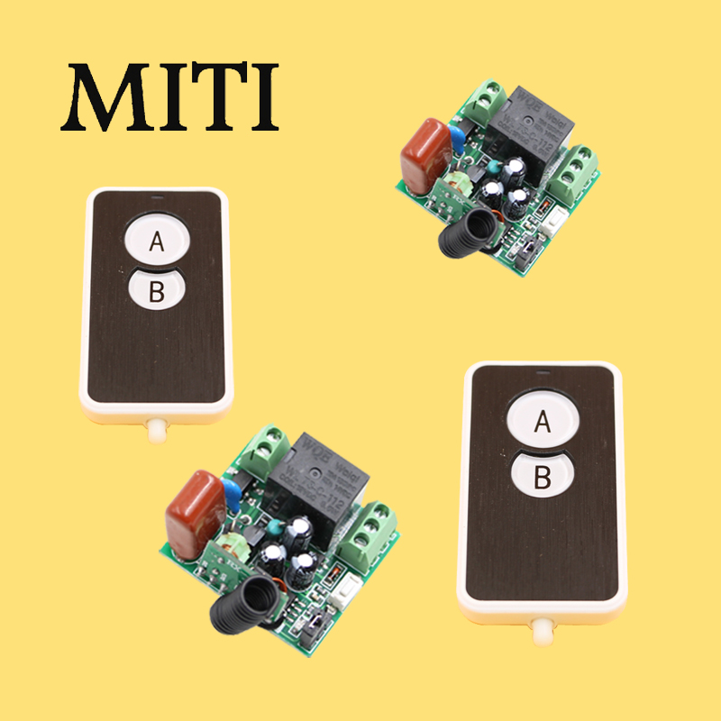 Newest  Mini Size RF Wireless Remote Control Switch System 1CH 2pcs Waterproof Transmitter & 2pcs Receivers AC220V 10A 2 receivers 60 buzzers wireless restaurant buzzer caller table call calling button waiter pager system