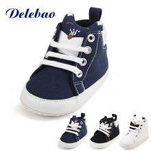 Детские туфли и носки delebao из чистого хлопка черно белые