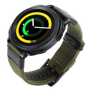 Image 3 - 삼성 기어 스포츠/갤럭시 시계 42mm/garmin vivoactive 3/ticwatch 2/e 용 easy fit 나일론 및 가죽 밴드 스트랩