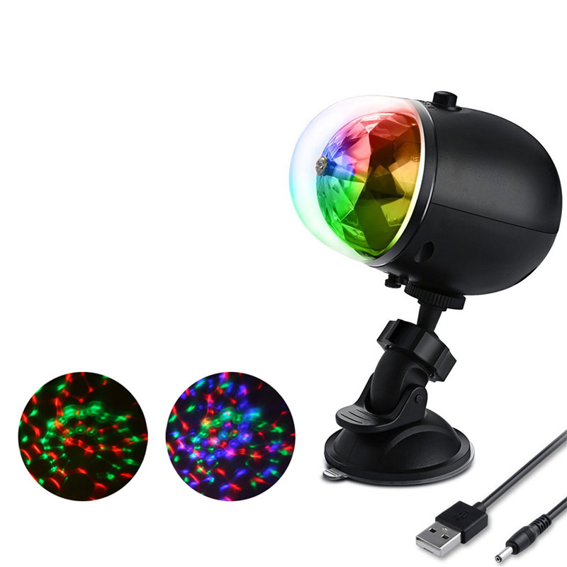 Home Disco Lights: RGB LED Laser Pointer Disco Stage Light USB Rechargeable