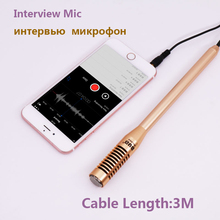 3.5mm Smartphone Micphone BUB Interview Video Recording Microphone Directional Mic for iPhone7 6S IOS Android Phones