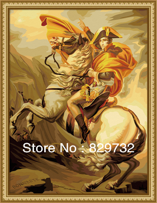 JIUJIU DIY digital oil painting Free shipping the picture unique gift 60X80cm Napoleon Buonaparte paint by number