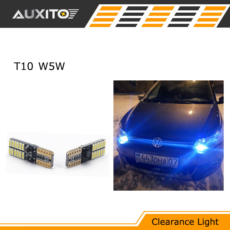 2X Car T10 w5w LED canbus Width Clearance bulbs light for Volkswagen VW polo golf 5 7 6 4 Scirocco beetle t5 passat b6 B5 touran deechooll 2pcs wedge light for mazda 2 3 5 6 mx5 rx8 cx7 626 gf gg ge gw canbus t10 57smd 6w led clearance xenon lighting bulbs