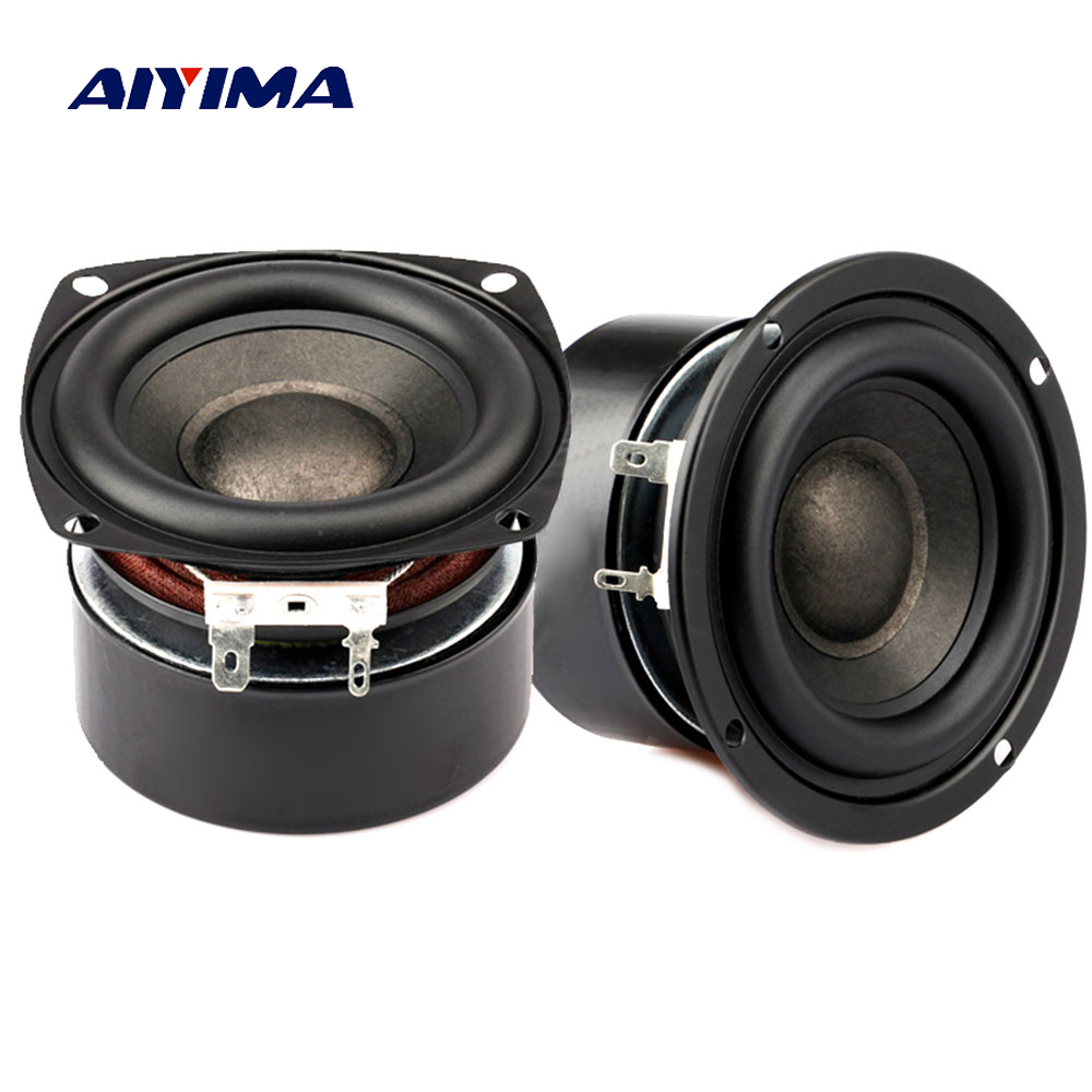Aiyima 2PC 3Inch Subwoofer Speaker 4Ohm 8Ohm 25W Woofer Hifi Audio Speaker Super Bass Loudspeaker Home Theater DIY цена 2017