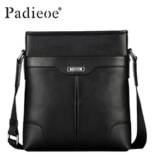 Padieoe Fashion Men Bag Genuine Leather Business Male Shoulder Bag Brand Mens Messenger Bags