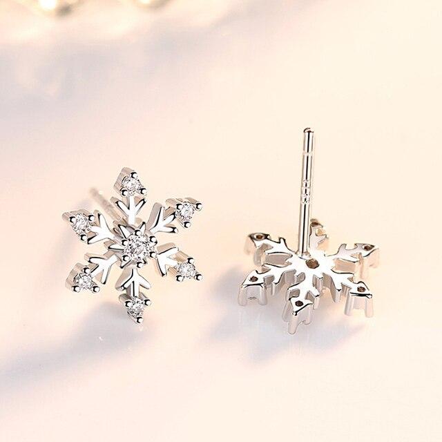 Женские серьги гвоздики с кристаллами снежные чешуйки для женщин