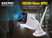Escam Moon QP02 2MP 1080P WIFI Alarm Camera IP66 waterprrof Outdoor Bullet IR-Cut Wireless fisheye infrared Security ip Camera
