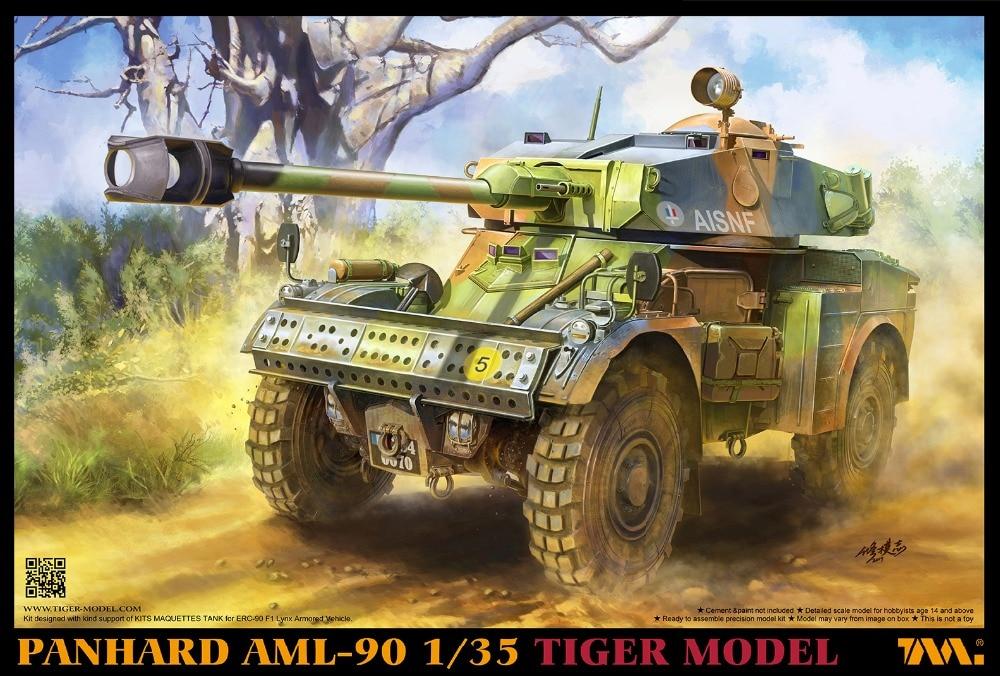 Tiger 4635 1/35 Model Panhard AML-90 Light Armoured Car 2019 RareTiger 4635 1/35 Model Panhard AML-90 Light Armoured Car 2019 Rare