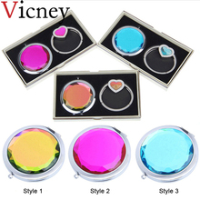 Vicney 2019 New original Makeup Mirror with bracelet Hanger sets Fashion Cosmetic Mini Mirrors set Folding Pocket Beauty Tool
