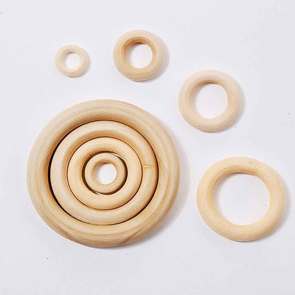 15-100 мм Высокое качество дерево цвет дерево кольцо деревянное кольцо кольца Металлические ремесла занавески аксессуары твердые деревянная пряжка