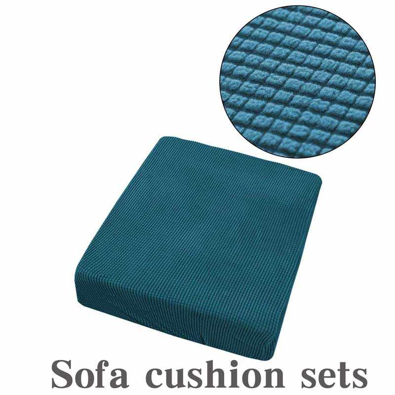 1/2/3/4 Seat Sofa Cushion Cover Chair Cover Pet Kids Furniture Protector Polar Fleece Spandex Washable Removable Slipcover