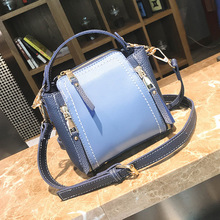 Hit Color Portable Tide Woman Package Bucket Package Ulzzang Single Shoulder Satchel Small Bag handbag luxury handbags women