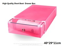 3pc lot women s Stackable Plastic Storage Short Boot Drawer Boxes Case Ladies Foldable Clear Handhold