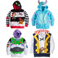 2016 Baby Boy jacket Jake and the Neverland Pirates/Monster University/ TOY3 boy boys Hooded coat top outwear track suits