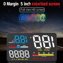 D5000 OBD2 Hud Car Speed Windshield Projector Head-Up Display Speedometer Projetor Auto Alarm OBD OBDii Head Up Display