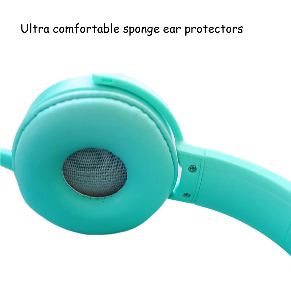 JINSERTA Kids Headphone Extra Bass Kids Headset with Mic Earphone for MP3 Player Smartphone Girls Children Headsets