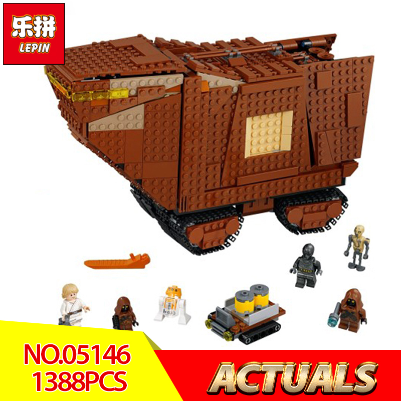 Lepin 05146 Star Wars Series The Sandcrawler Compatible Legoing 75220 Model Building Blocks Kids Wars Toys Funny Christmas Gifts new star wars series the sandcrawler compatible legoing starwars 75220 model building blocks kids toys funny christmas gifts