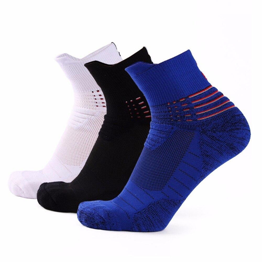 Anti-Slip Man Socks 100% Cotton Boys Casual Stripe Blue White Blue Breathable Happy Socks Short Boys Mens Ankle Funny Sock