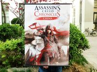 Assassin's Cree:China HD Game Scrolls Poster Bar Cafes Home Decoration Banners Hanging Art Waterproof Cloth Decorative 60X90 CM