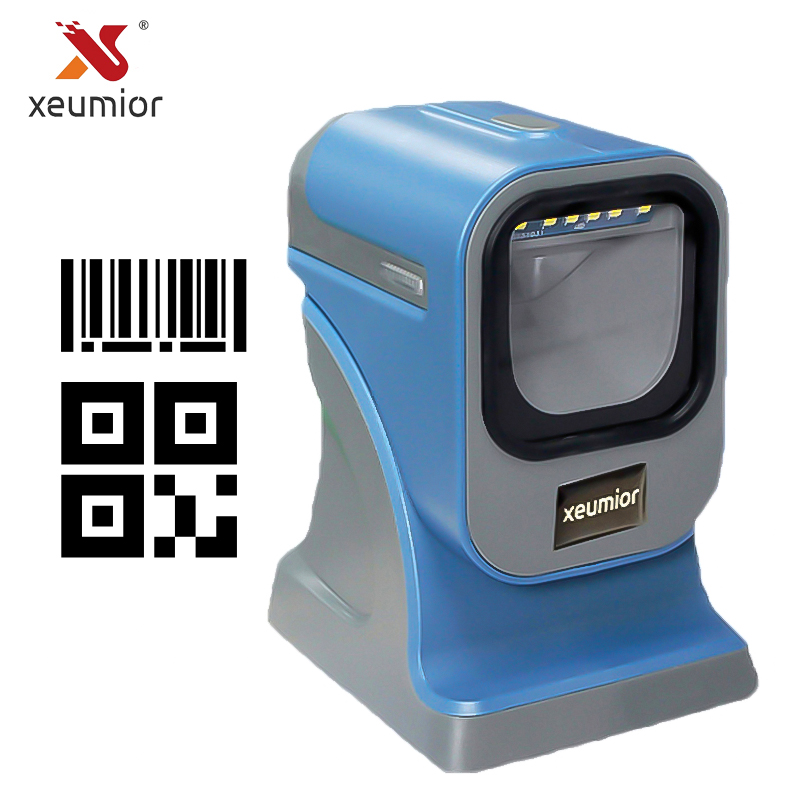 2D USB RS232 Omni Directional Barcode Scanner Mobile E Ticket Barcode Reader PDF417 QR Code Scanner