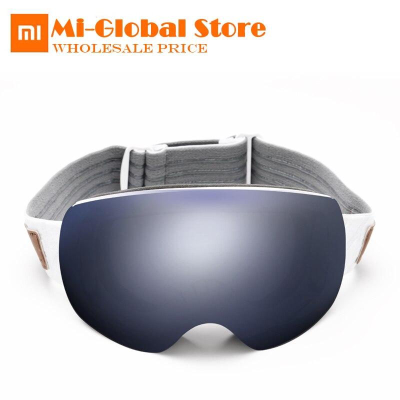 Xiaomi TS occhiali da sci 2 pezzi lenti HD campo di vista di protezione UV super anti-fog rivestimento Adulto Neve occhiali di protezione resistenti agli urti