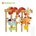 1 unids/lote juguete del bebé elc, animales multifuncionales alrededor de la cama / del torno colgar. seguridad espejos / BB dispositivo / dientes Glue / tomar tirar ShockHT82600MU