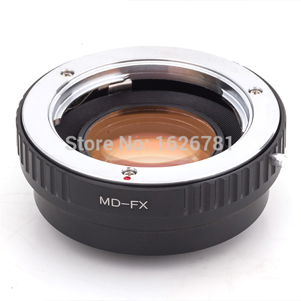 Speed ​​Booster Focal Reducer-objektiv Adapter Passar till Minolta MD-objektiv som passar till Fujifilm X Mount Camera