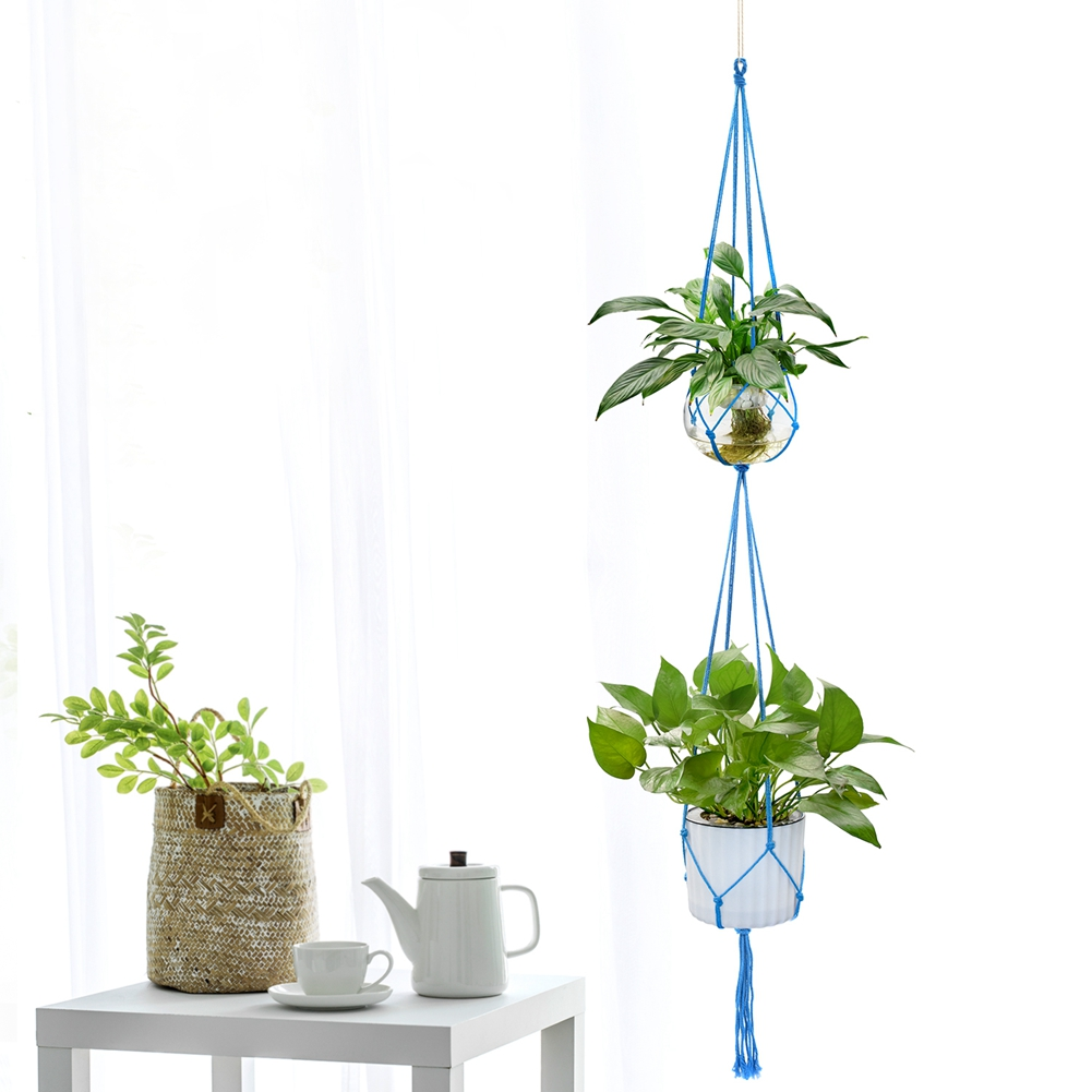 Garden Supplies 4pcs Decorative Flower Pot Hanger Holder Pure Cotton 63.7 Double Layers Basket Hanger Ropes For Hanging Rattan Planter Pots Can Be Repeatedly Remolded. Home & Garden