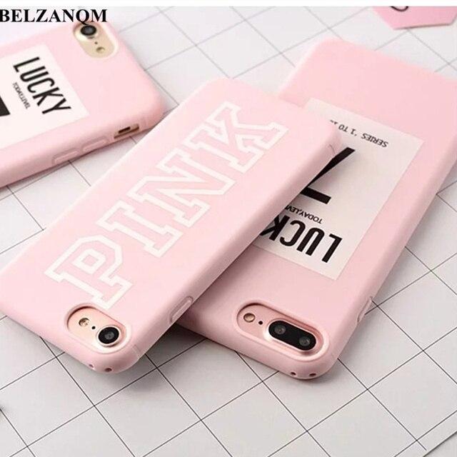 Для iPhone 7 Lucky Case розовый цвет мягкий резиновый чехол для iPhone Xs 8 7 6 S Plus XS MAX XR чехол силиконовый чехол для iPhone 6S